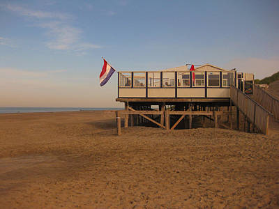 Photograph - Beach Pavillion The Beachwalker by Nop Briex