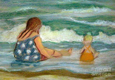 Pastel - Beach Play by Gretchen Allen