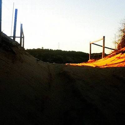 Pathway Photograph - #beach #sand #sun #fence #pathway by Pictures 🌺 Photos 📷