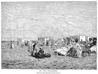 Photograph - Beach Scene, 19th Century by Granger