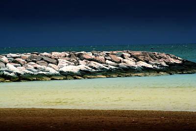 Photograph - Beach Scene by Ellen Heaverlo
