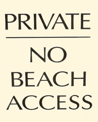 Photograph - Beach Sign by Tony Grider