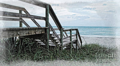 Photograph - Beach Steps by Joan  Minchak