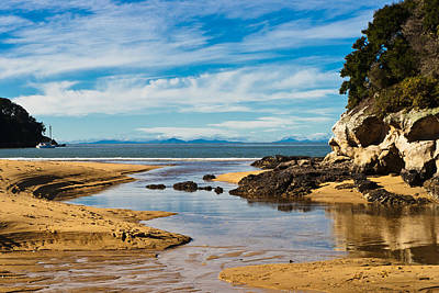 Photograph - Beach Stream by Graeme Knox