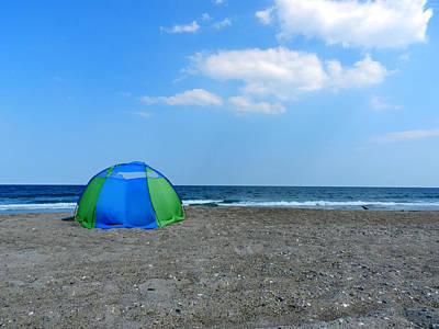 Beach Photograph - Beach Tent by Lance Vaughn
