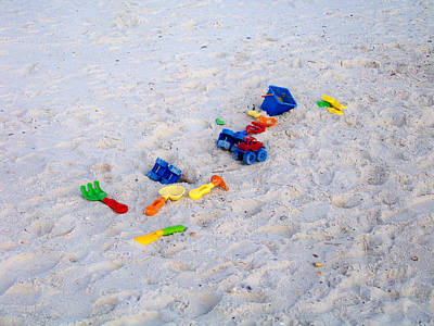 Photograph - Beach Toys by Judy Wanamaker