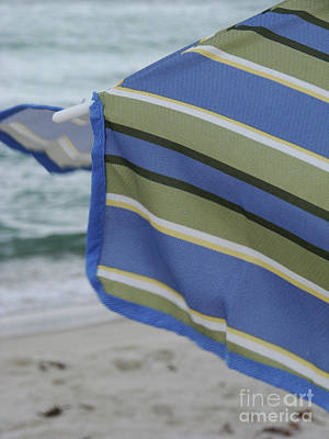 Photograph - Beach Umbrella Blues by Mark Holbrook