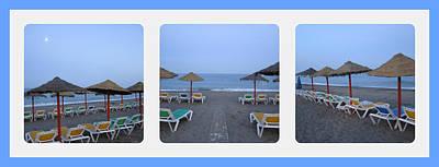 Photograph - Beach Umbrellas Spain by John Shiron