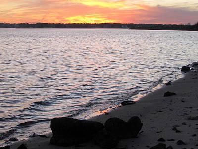Photograph - Beach View Dusk by Clara Sue Beym