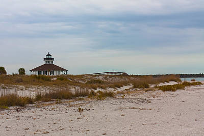 Photograph - Beach View Of Port Boca Grande Lighthouse by Ed Gleichman