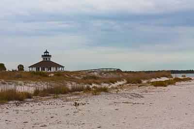 Photograph - Beach View Of Port Boca Grande Lighthouse by Ed Gleichman