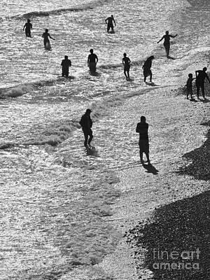Beach Walkers 2 Art Print by Tim Bird