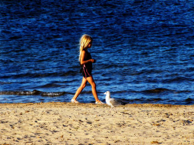 Photograph - Beach Walkers by Ms Judi