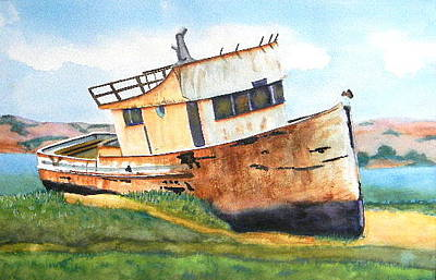 Aground Painting - Beached by Anna Lohse