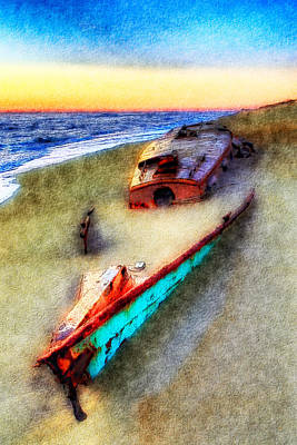 Sand Dunes Painting - Beached Beauty II by Dan Carmichael