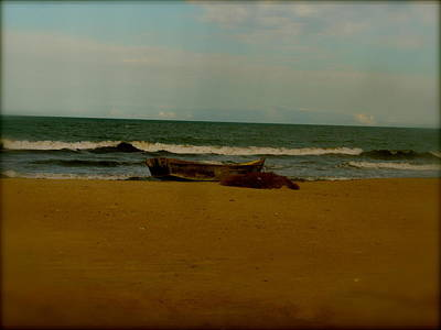 Photograph - Beached Boat by Joe  Burns