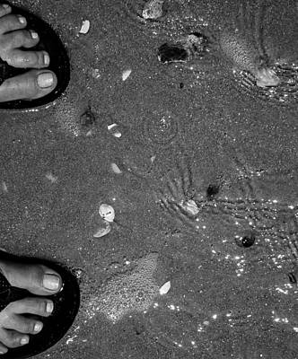 Beachy Feet Art Print by Toma Caul