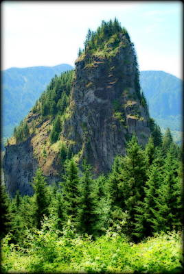 Digital Art - Beacon Rock by Kathy Sampson