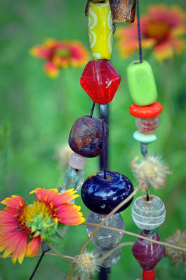Photograph - Beads And Flowers by Rose  Hill