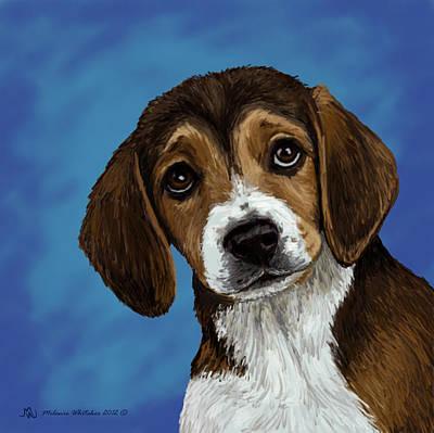 Beagle Eyes Art Print by Melanie Whitaker