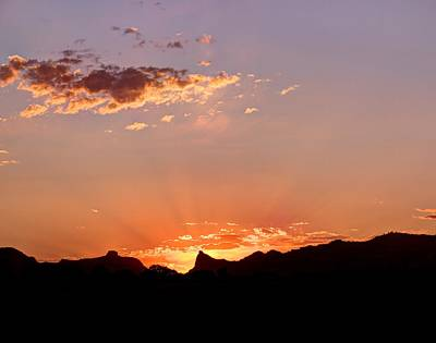 Photograph - Beams At Sunset by HW Kateley