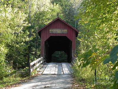 Sandy Owens Photograph - Bean Blossom Covered Bridge by Sandy Owens