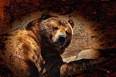 Bear Artistic Art Print by Karol Livote
