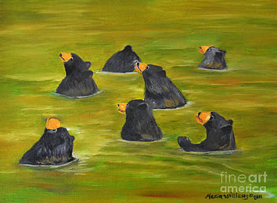 Painting - Bear Bath  by Maria Williams