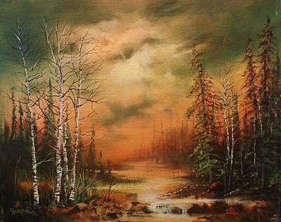 Northwoods Painting - Bear Creek by Tom Shropshire