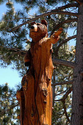 Carving Photograph - Bear Direction by LeeAnn McLaneGoetz McLaneGoetzStudioLLCcom
