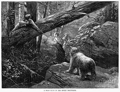Bear Hunt, 1876 Art Print by Granger
