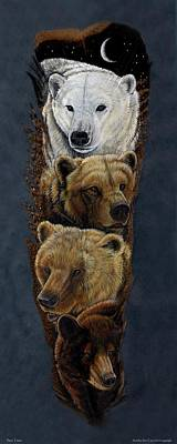 Kodiak Bear Painting - Bear Totem by Sandra SanTara