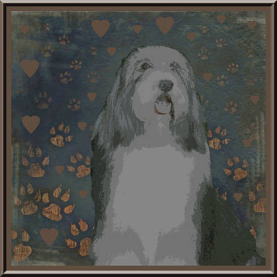 Bearded Collie Art Print by One Rude Dawg Orcutt