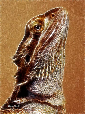 Digital Art - Bearded Dragon by Stephen Younts
