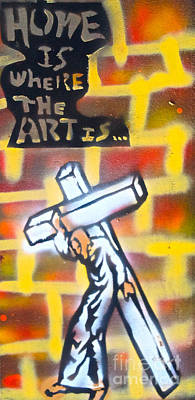 Bearing The Cross Art Print