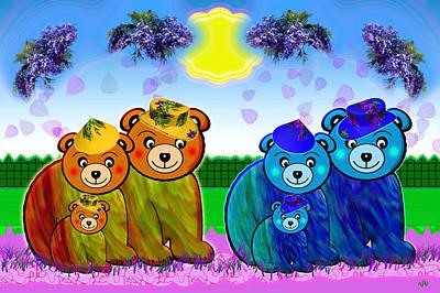 Bears Art Print by Victoria Regueira