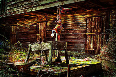 Photograph - Beaten Down Barn Building by Trudy Wilkerson