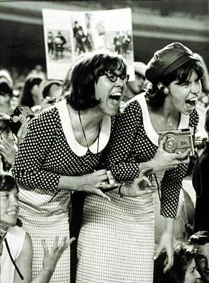 Beatles Fans Scream At A Concert Print by Everett