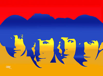 Beatles Pop Art Print by Carvil