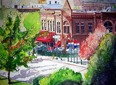 Fort Collins Painting - Beau Jo's by Tom Riggs