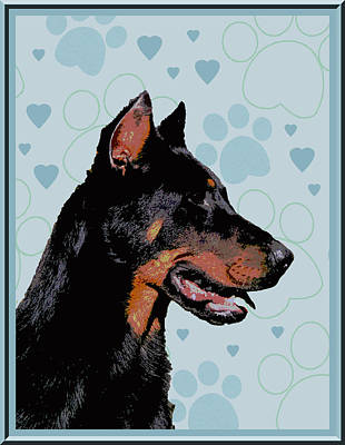 Beauceron Art Print by One Rude Dawg Orcutt