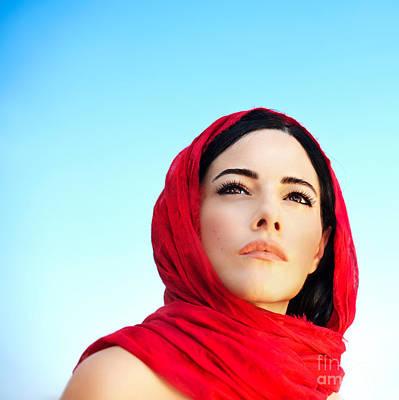 Hijab Fashion Photograph - Beautiful Arabic Woman by Anna Om