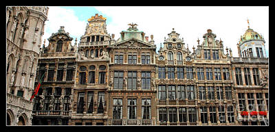 The Grand Place Photograph - Beautiful Belgian Buildings - Digital Art by Carol Groenen