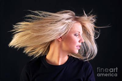 Beautiful Blonde Hair Art Print