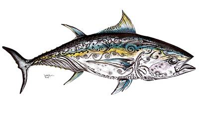 Beautiful Blue Fin Art Print