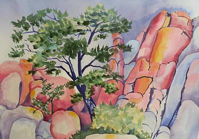 Beautiful Boulders Art Print by Jann Elwood