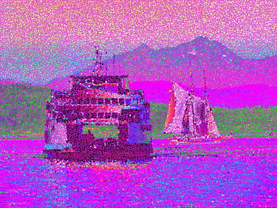 Sound Digital Art - Beautiful Day For A Sail by Tim Allen