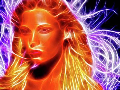 Digital Esoteric Photograph - Beautiful Fantasy Woman Face by Oleksiy Maksymenko