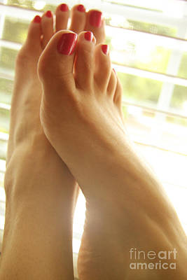 Beautiful Feet 2 Art Print by Tos Photos