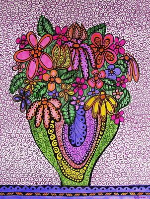 Beautiful Floral Imagination  Art Print by Gerri Rowan